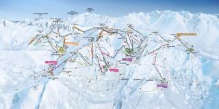 Plan des pistes Domaine Les Sybelles