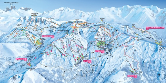 Slopes info + map
