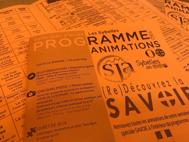 Programme d'animations