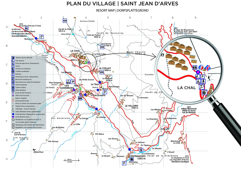Plan Saint Jean d'Arves